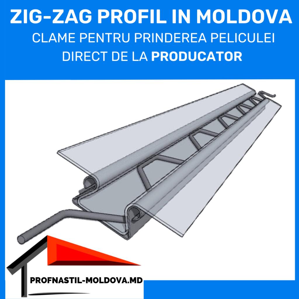 Zig Zag profil in Moldova (Тепличный замок) Зиг заг профиль в Молдове