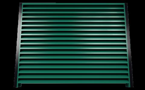 Металлический забор жалюзи 6005